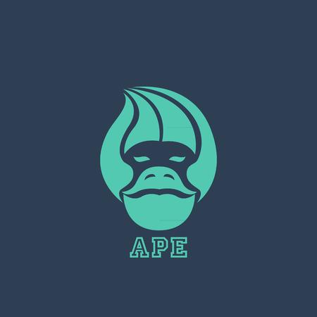 Ape logo vector Illustration