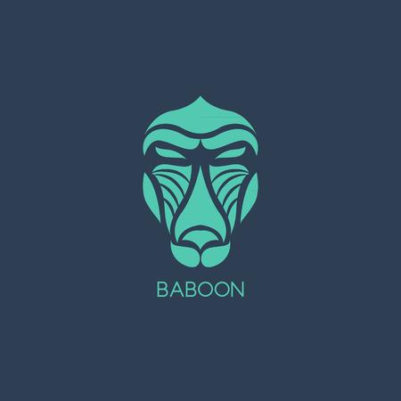 mandril: Babuino vector