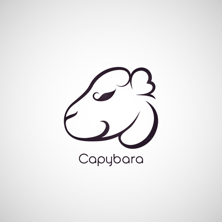 biggest animal: capybara logo vector Illustration