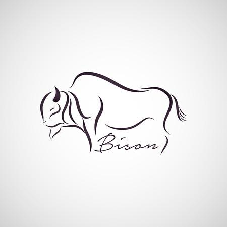 buffalo: Bison logo vector