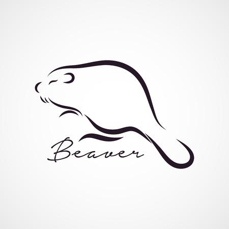 castor: Beaver vector logo Vectores
