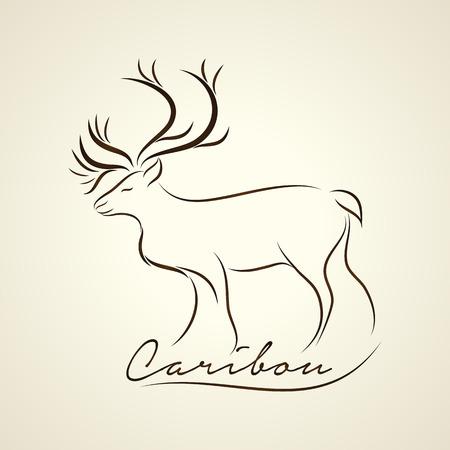 caribou: Caribou logo vector