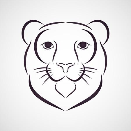 snow leopard: Snow Leopard logo vector Illustration