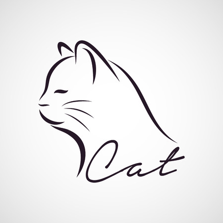 kitty: CAT logo vector Illustration