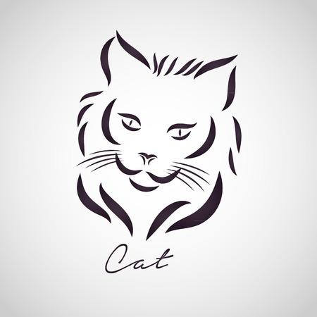 CAT logo vector Illustration