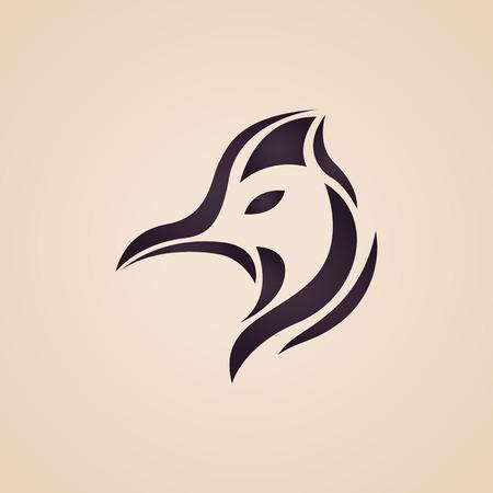 Cassowary logo vector Vectores
