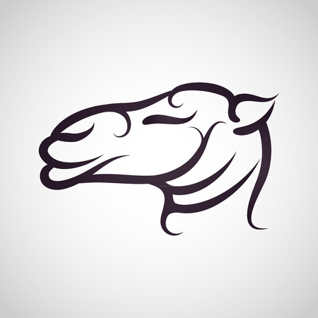 camel in desert: Camel logo vector Illustration