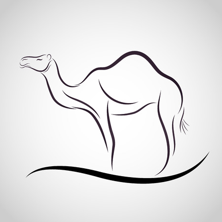 camel silhouette: Camel logo vector Illustration