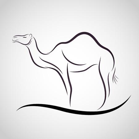 Camel logo vector Vectores
