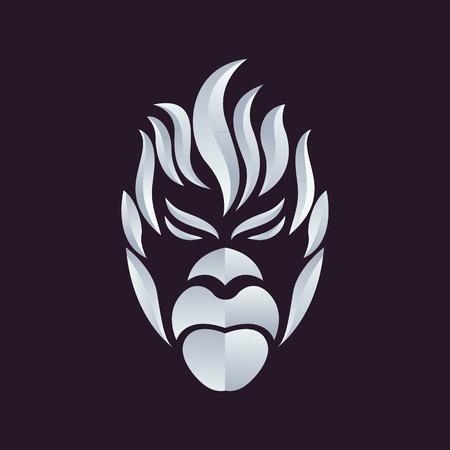 Ape logo vector  イラスト・ベクター素材