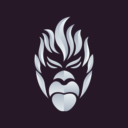 kong': Ape logo vector Illustration