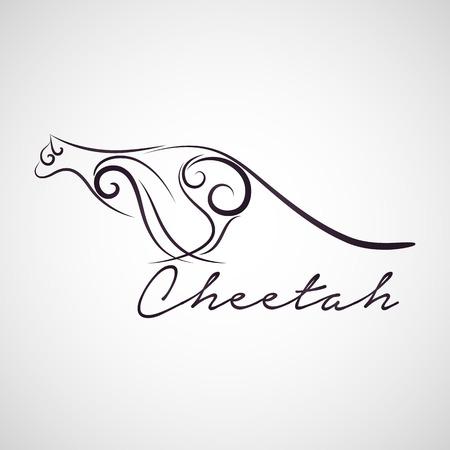 Cheetah logo vector 일러스트