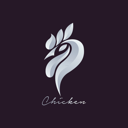granja avicola: Logo pollo vector