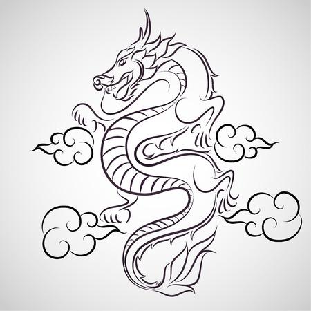 Dragon logo vector Vectores