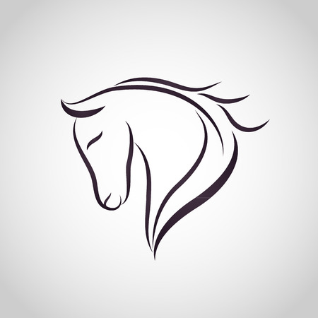 horses in the wild: Horse logo Illustration
