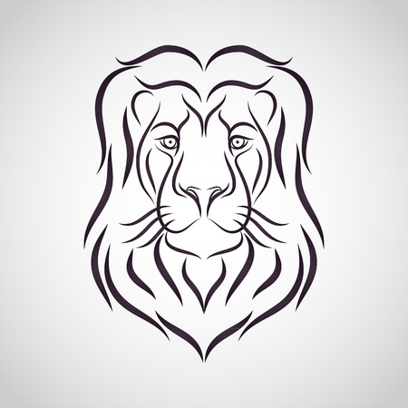 Lion head - vector illustration Vektorové ilustrace