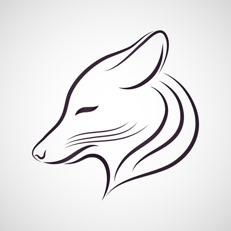 black and white wolf: Coyote vector Illustration