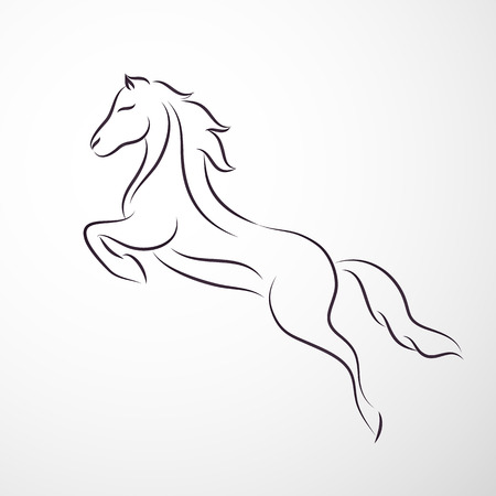 Horse logo Stock Illustratie