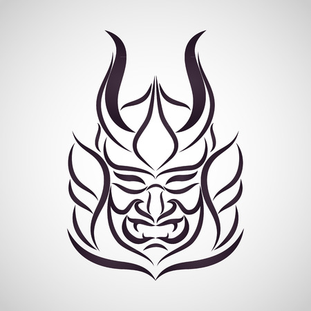 asian warrior: samurai vector
