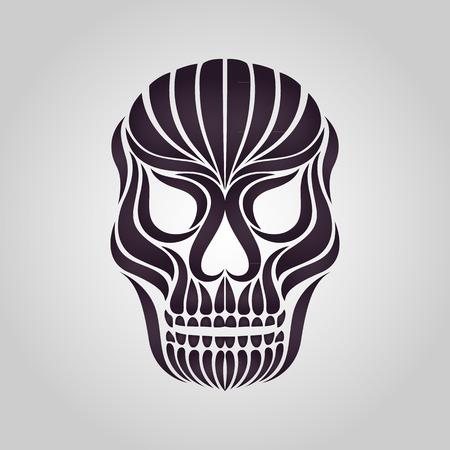 deaths: skull tattoo vector