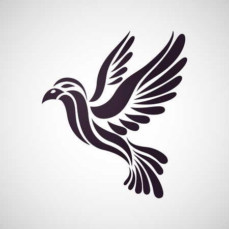 white bird: Bird logo vector
