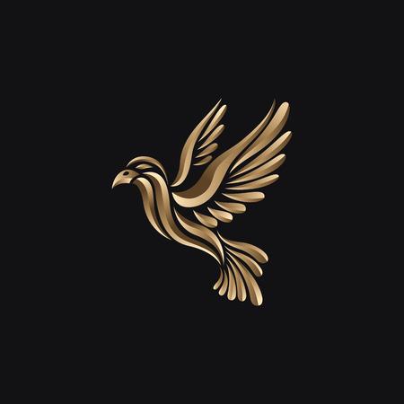 鳥のロゴ  イラスト・ベクター素材