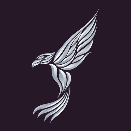 bird silhouette: Eagle vector