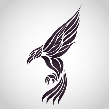 adler silhouette: Eagle-Vektor Illustration