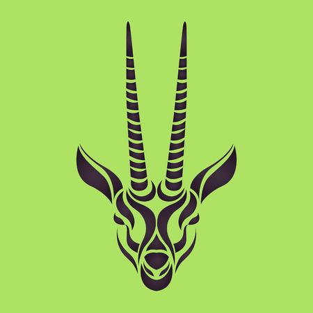 gazelle: Gazelle logo vector