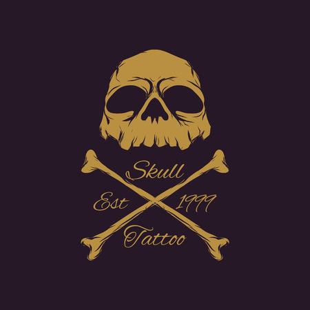 Skull Badges logo vector