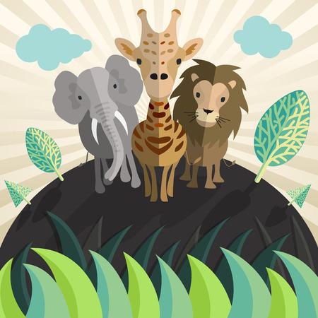 leon bebe: animal del parque zool�gico del vector