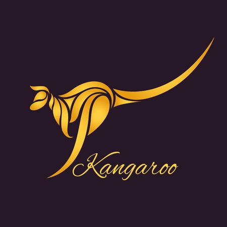 Kangourou logo vecteur Banque d'images - 40627066