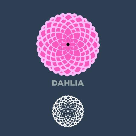 dahlia: Dahlia flower logo vector