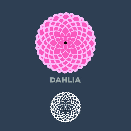 Dahlia flower logo vector