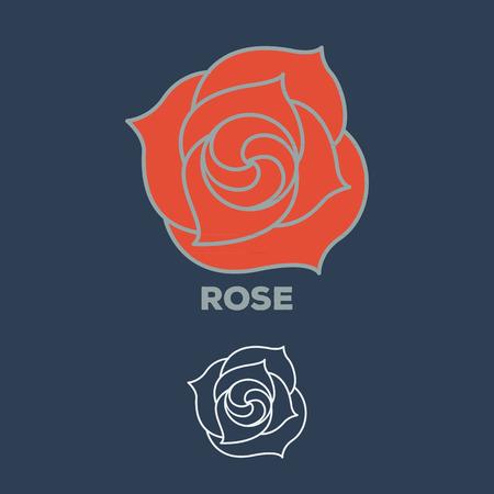 rose flower logo vector Illustration