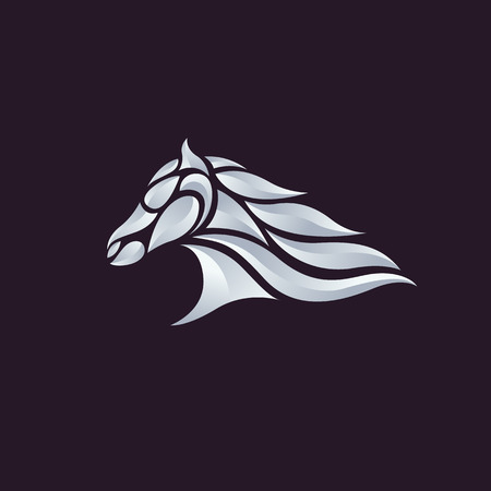 thoroughbred horse: Horse head - vector illustration