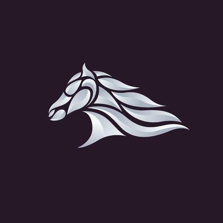 steed: Horse head - vector illustration