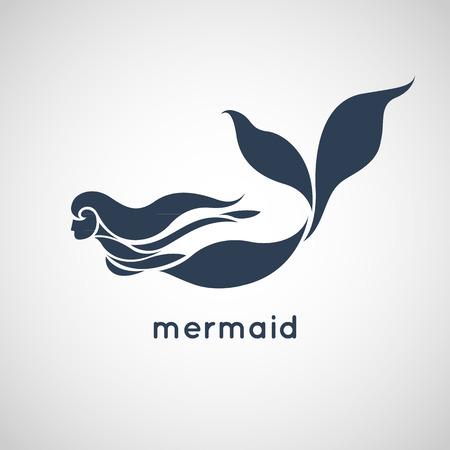 mermaid logo vector  イラスト・ベクター素材