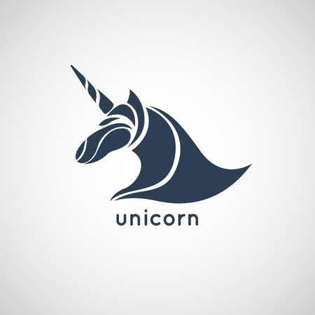 unicorn logo vector 일러스트