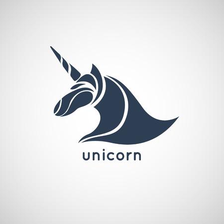 unicorn logo vector Illustration