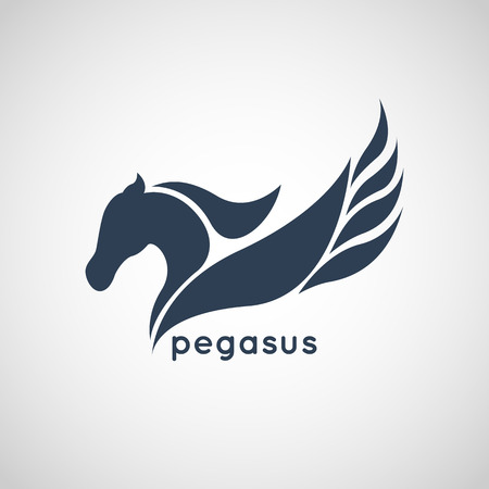 pegasus: pegasus logo vector