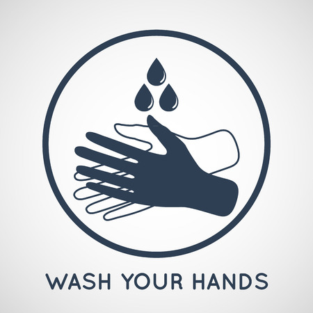 Lavarse el símbolo de las manos Foto de archivo - 41507094