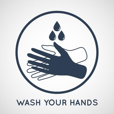wash your hands symbol Ilustracja
