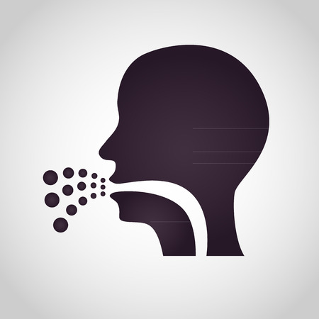 coughing: Coughing icon vector Illustration