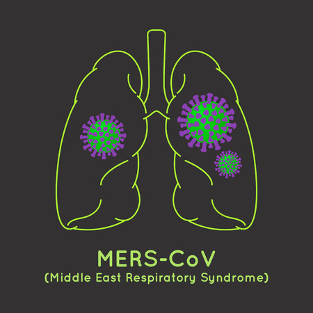 hepatitis vaccine: MERS-CoV(Middle East respiratory syndrome coronavirus) image illustration