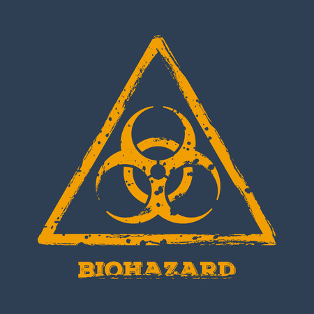 biological waste: Biohazard, sign. Illustration