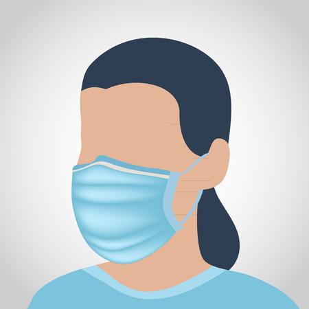 medical mask: vector m�scara m�dica