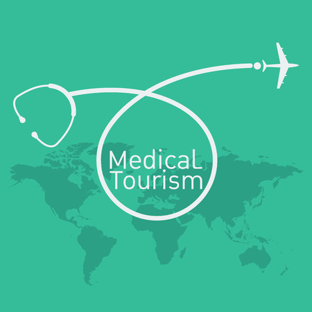 medical symbol: medical tourism vector background Illustration