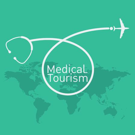 medical tourism vector background Illustration