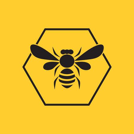 蜂のロゴ  イラスト・ベクター素材